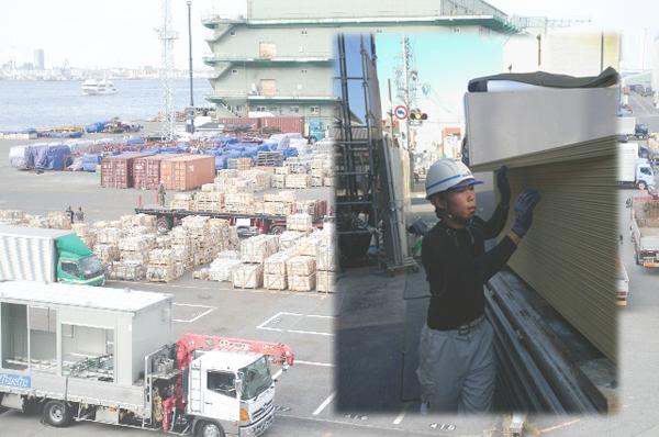 資材の配送・運搬だけでなく、建設現場への運送・荷揚げまで行えます。